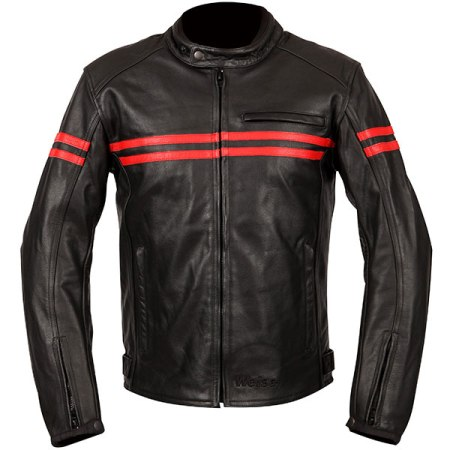Weise Brunel Leather Motorcycle Jacket - Red
