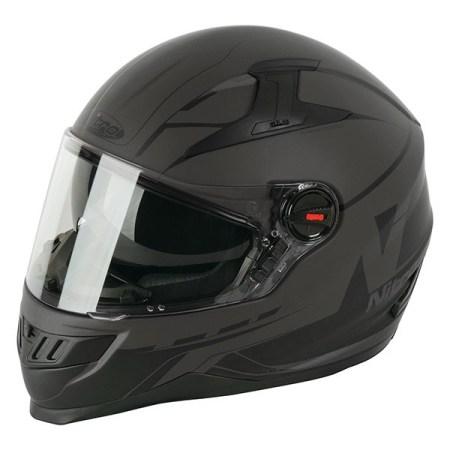 Nitro N2200 Analog Motorcycle Helmet - Matt Gun