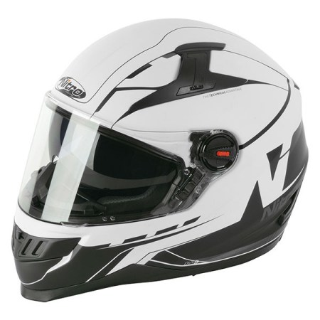 Nitro N2200 Analog Motorcycle Helmet - Matt White