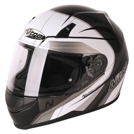 Nitro N2000 Pioneer Motorcycle Helmet - Black