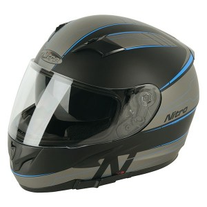 Nitro N2300 Axiom Motorcycle Helmet Blue