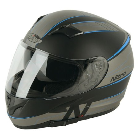 Nitro N2300 Axiom Motorcycle Helmet - Blue