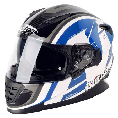 Nitro NRS-01 Pursuit Motorcycle Helmet - Blue