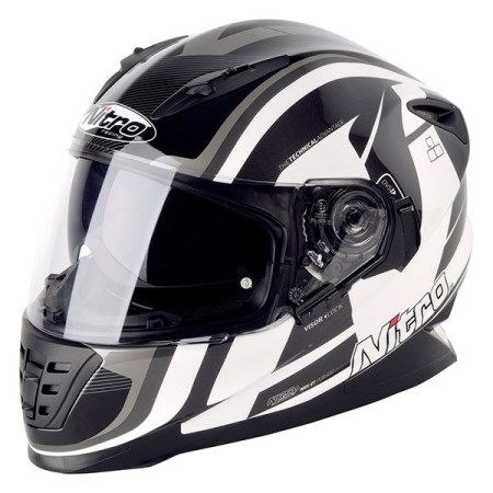 Nitro NRS-01 Pursuit Motorcycle Helmet - Black