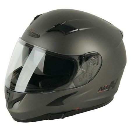 Nitro N2300 Rift Uno Motorcycle Helmet - Matt Gun