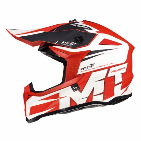 MT Falcon Weston Motocross Helmet - Red