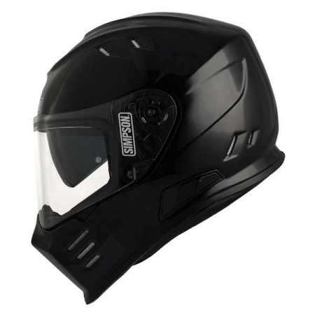 Simpson Venom Motorcycle Helmet - Gloss Black