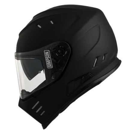 Simpson Venom Motorcycle Helmet - Matt Black