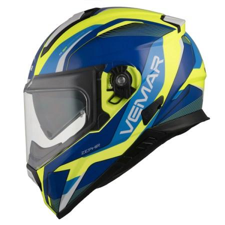Vemar Zephir Lunar Motorcycle Helmet Blue