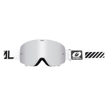 B-50 Goggle FORCE white - mirror silver