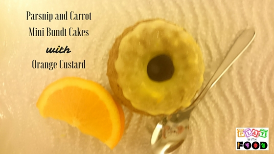 Parsnip and Carrot Mini Bundt Cakes with Orange Custard | Play with Food