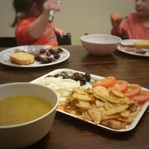Italian Red Lentil Soup and Accompaniments by Play with Food
