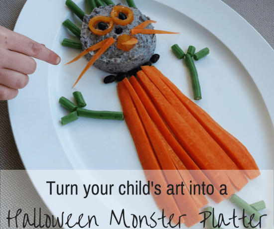 Art inspired Halloween Vegetable Platter by Play with Food