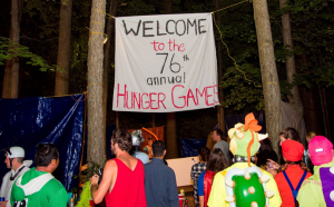 Hunger Games campsite at Gender Blender 2016