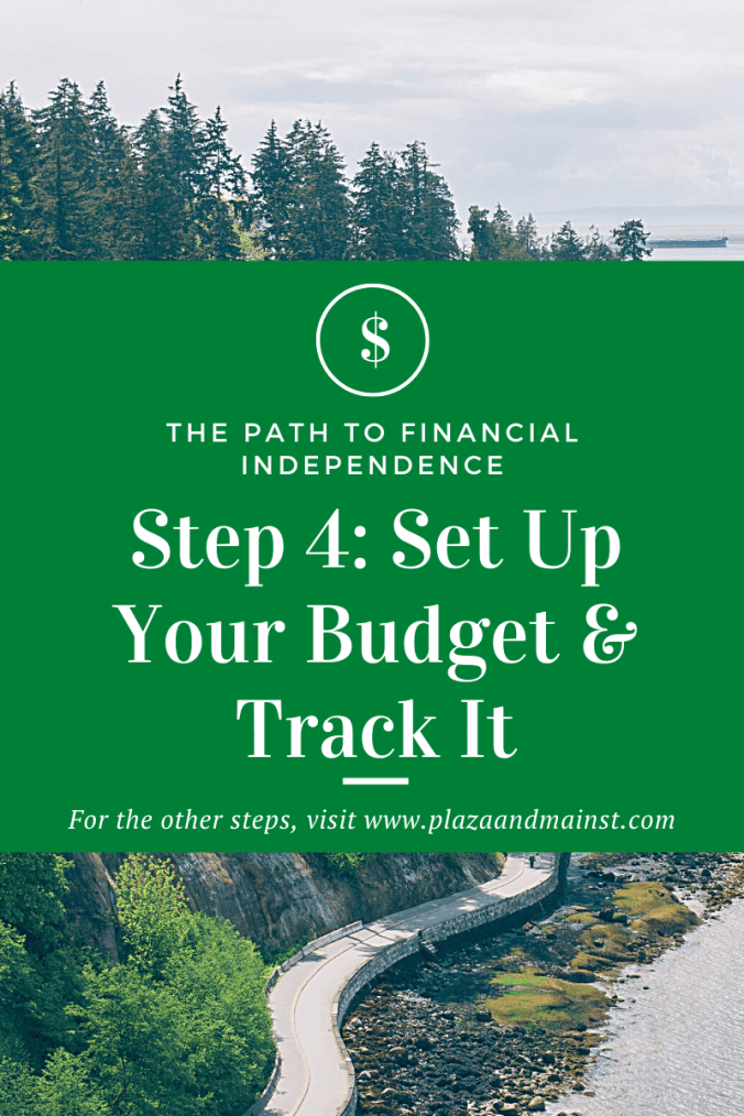 set up a budget track it step 4 path to FI