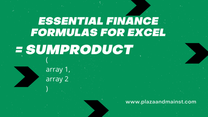 excel SUMPRODUCT explained