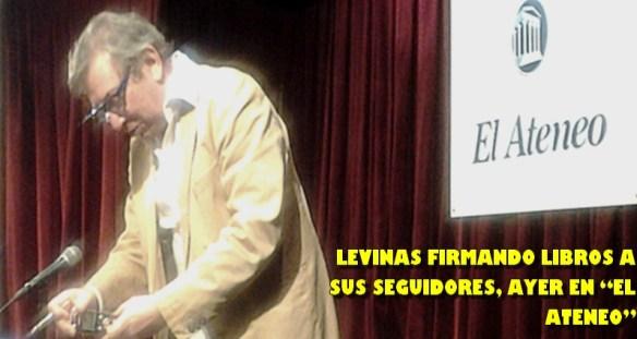 LEVINAS FIRMA LIBROS EN EL ATENEO