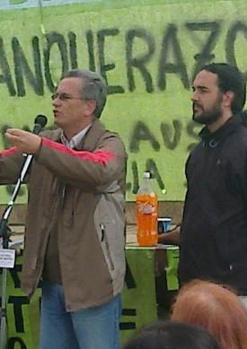 Claudio del Pla, que disputa su reelección como diputado provincial, y Pablo López, candidato nacional.