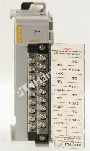 PLC Hardware  Allen Bradley 1769OF4VI Series A, Used in a PLCH Packaging