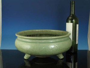 Large Chinese Ming Celadon Incense Burner