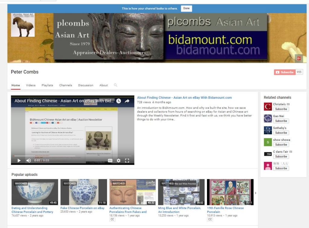 plcombs Chinese-Asian Art on YouTube