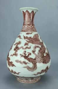 Copy Yuan underglaze red vase