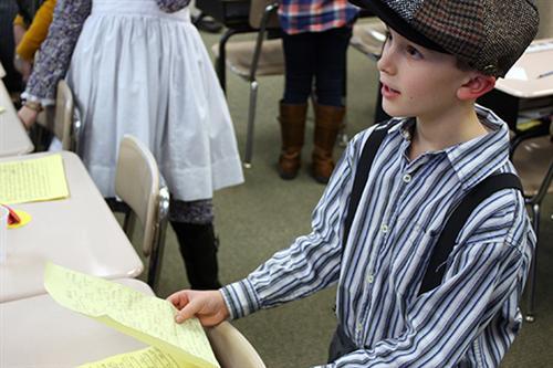 Portal Elementary School third-grader Cooper Towles tells ...