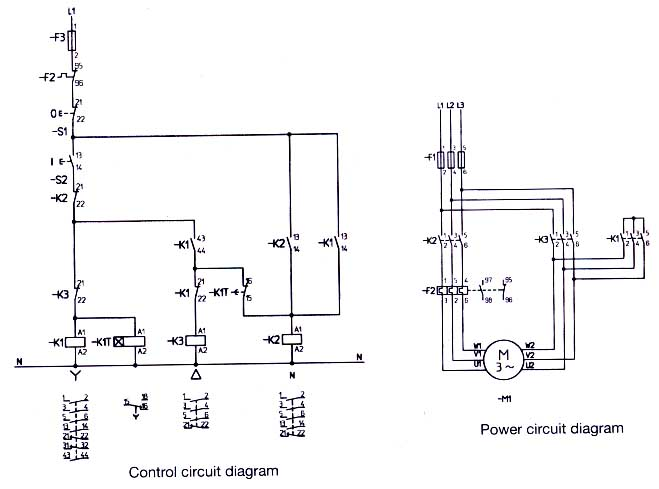 wye start delta run motor wiring diagram wiring diagram star delta motor starter eep