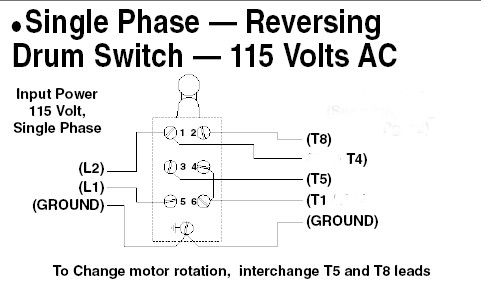 wiring diagram for single phase motor The Wiring – Single Phase Motors Wiring Diagrams