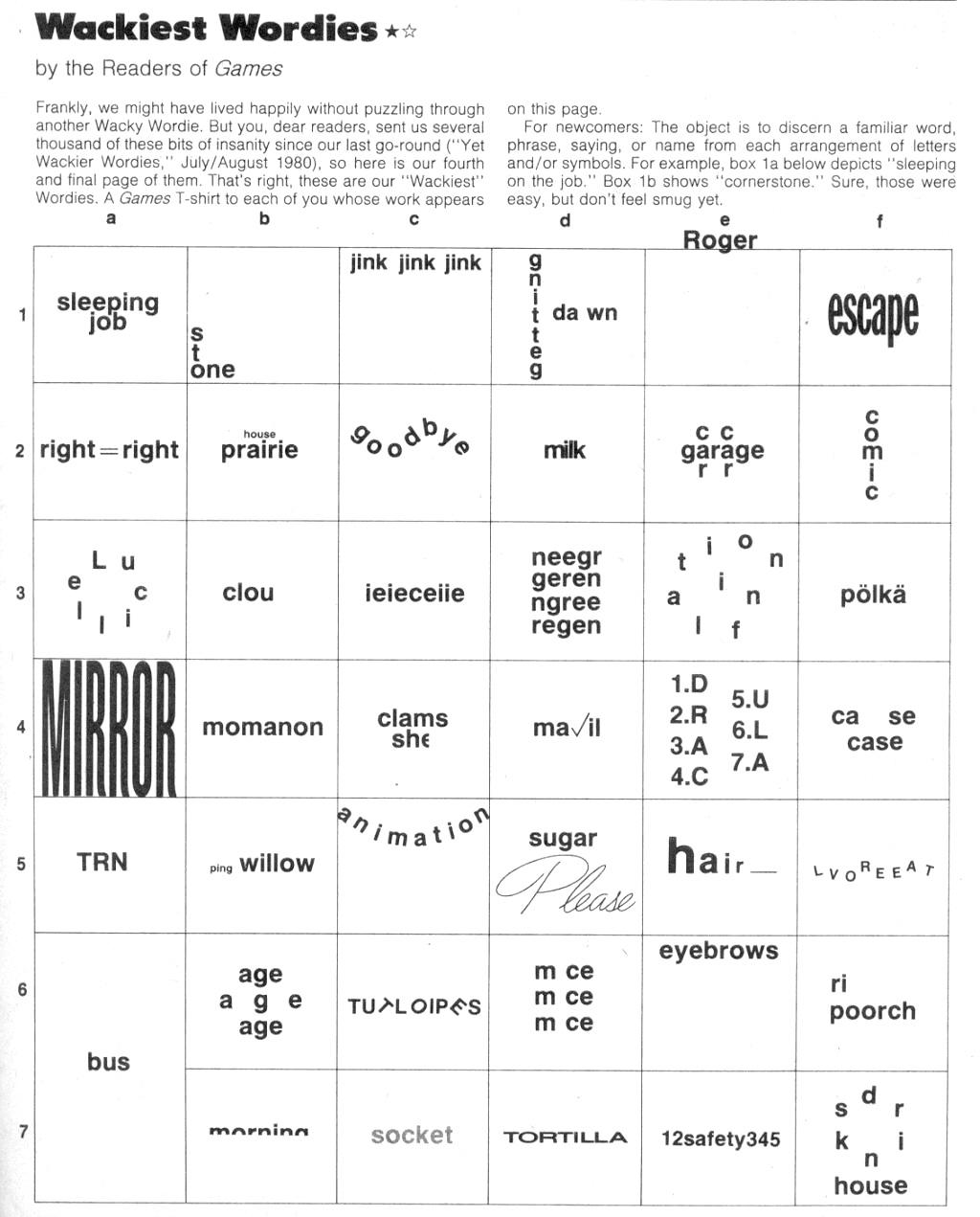 Worksheets Wacky Wor S Worksheets