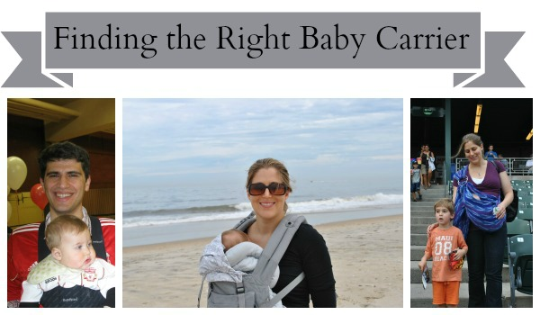 finding the right baby carrier