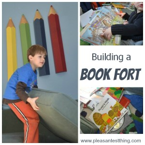 Making your own book fort