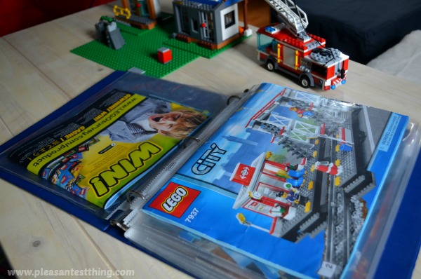 simple storage solution for LEGO instruction manuals
