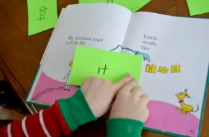 Play word games inspired by Hop on Pop!