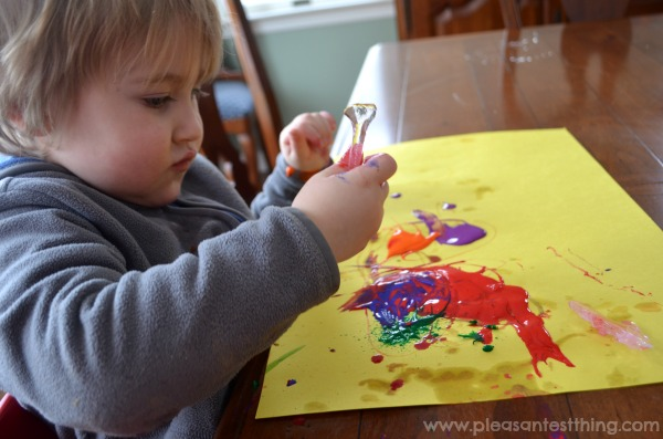 Bring outdoor fun inside with icicle painting!