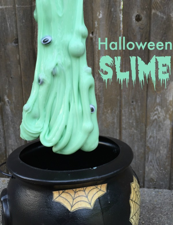 Halloween Slime - only 3 ingredients and FUN for Halloween!