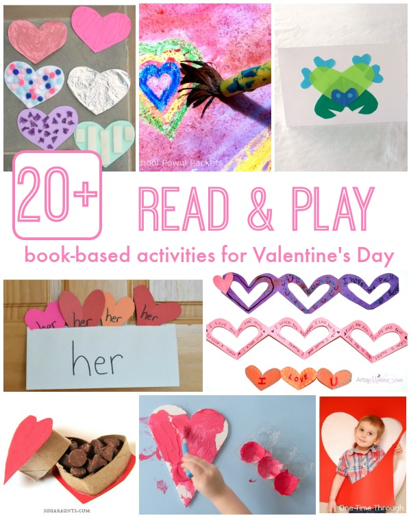 Over 20 ideas for kids activities inspired by favorite Valentine's Day books!