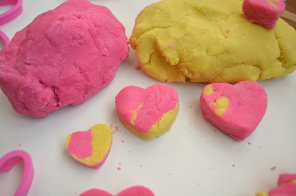 Pink Lemonade play dough play recipe