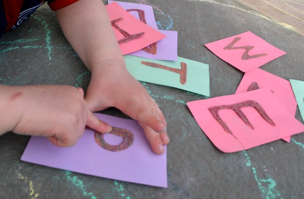 Touch and feel ABC cards - fun way to practice letter formation!