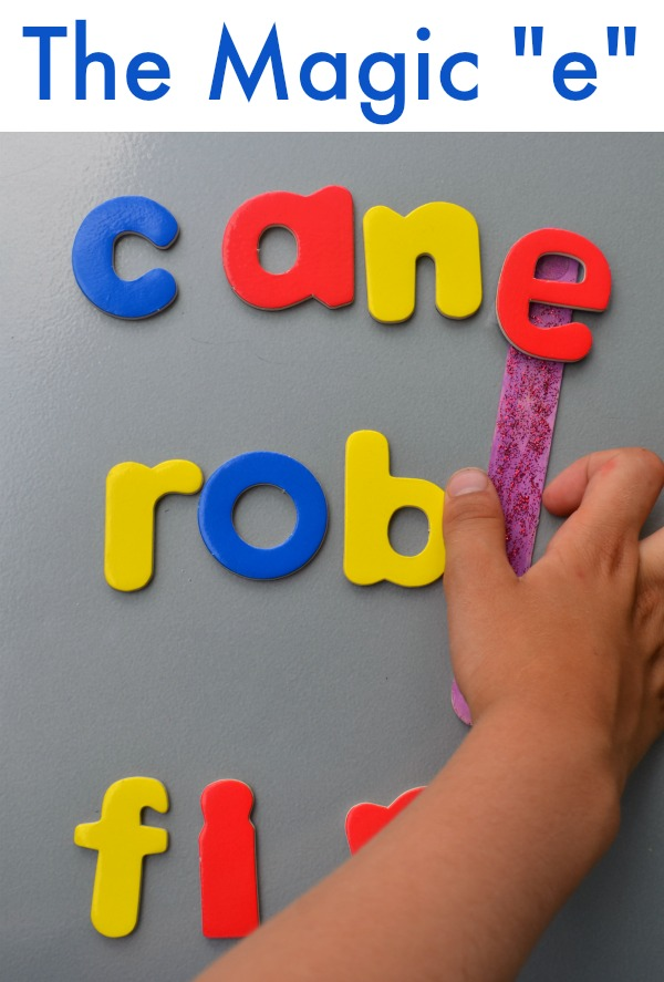 Early reading activity - play with a Magic E!