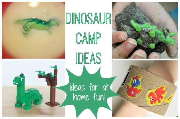 DIY Dinosaur Camp - ideas to create your own camp at home!