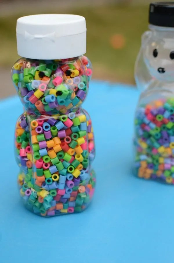 CUTE rainbow bear sensory bottle for babies and toddlers!