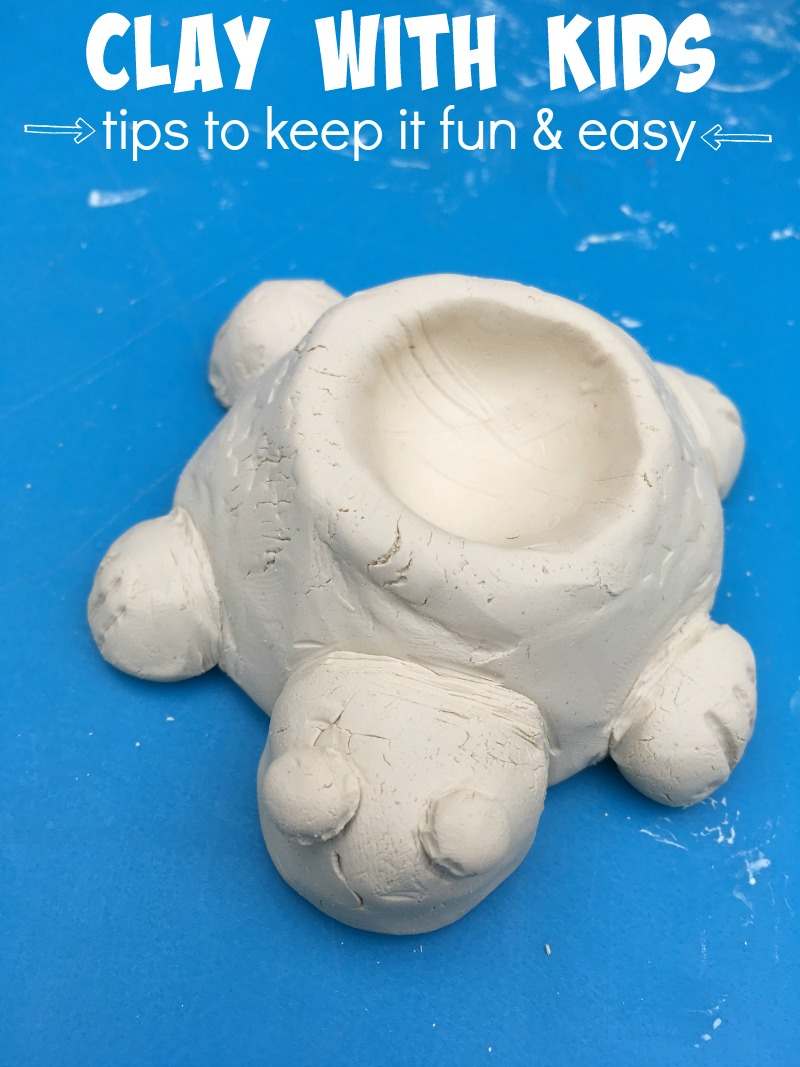 Tips for playing with clay -- setting kids up for success with their projects!