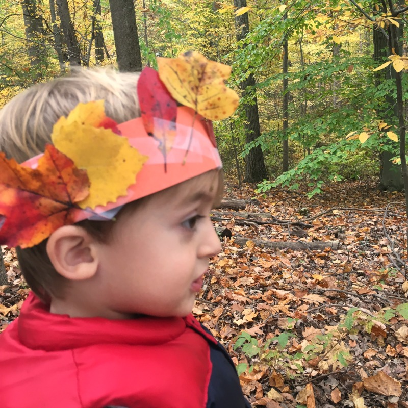 Fall leaf crown - fun fall craft for kids!