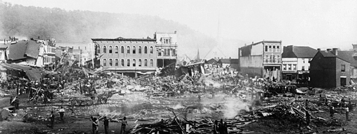Johnstown Flood, Johnstown, PA. 1889 by Langill & Darling