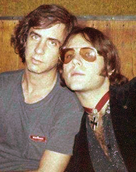 Danny Fields and Ron Asheton at Max's. Photo © by Natalie Stoogeling