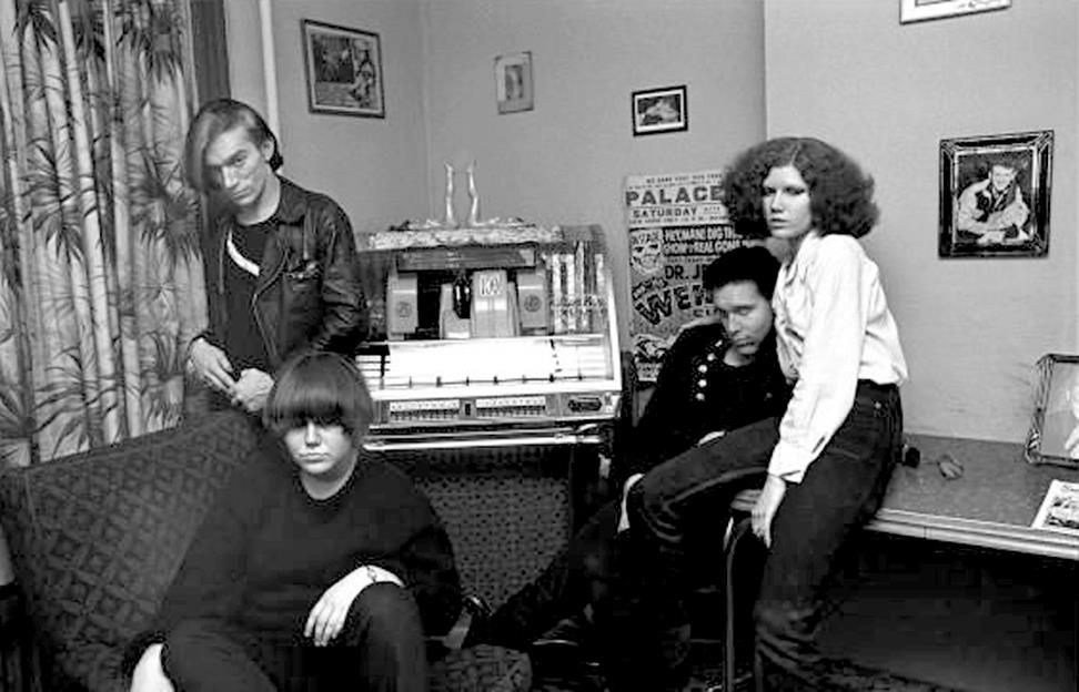 The Cramps in their New York City apartment on 73rd Street