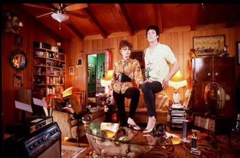 Lux and Ivy of the Cramps in their Los Angeles home