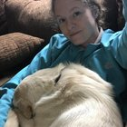 vbL5yUxol2UEXQixTXw9wF02leGHYRQiMPOyeYoeIlc New foster dog, hes super sweet, but mostly blind. I cant reach my coffee, or the remote, but hes finally comfortable and seems to feel secure. Snore away buddy!