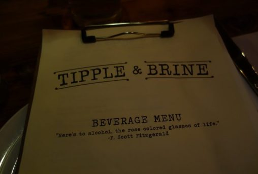 Tipple and Brine Menu